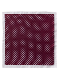Berry Dot Silk Hankie
