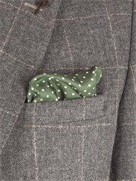 Olive Dot Silk Hankie- currently unavailable