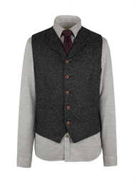 Charcoal Donegal Fleck Waistcoat- currently unavailable
