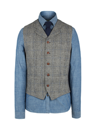 Grey Check Vest- currently unavailable
