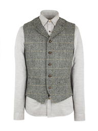 Grey Herringbone Check Vest- currently unavailable