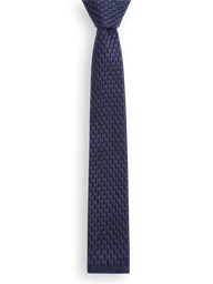 Navy Knitted Tie- currently unavailable