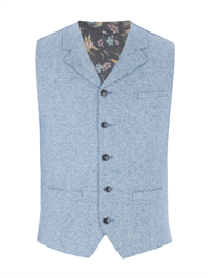 Blue Contrast Donegal Waistcoat