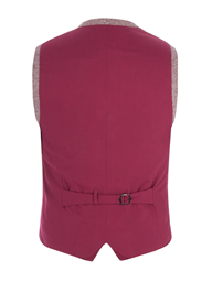 Red Contrast Donegal Waistcoat