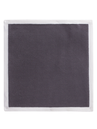 Grey With Cream Trim Hankie