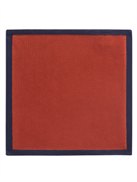 Orange With Navy Trim Hankie- currently unavailable