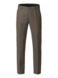 Taupe muted check Trousers