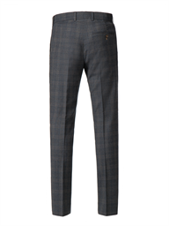 Grey with blue muted check Trousers