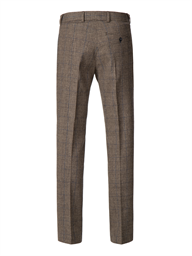 Fawn Prince of Wales Check with Blue over check trousers- currently unavailable