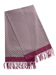 Burgundy Geometric Print Scarf- currently unavailable