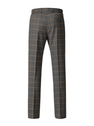 Charcoal Trousers With Apricot Check