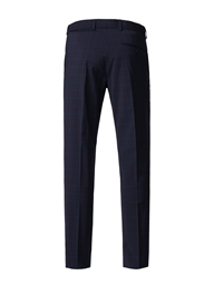 Navy Trousers With Soft Red Check