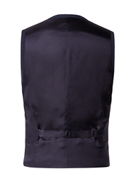 Navy Waistcoat With Soft Red Check
