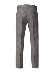 Navy And Olive Gingham Check Trouser