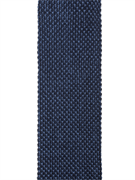 Navy and Blue Textured Knitted Tie- currently unavailable