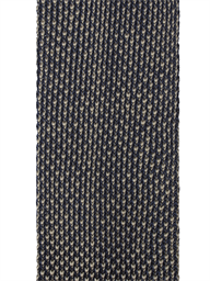 Navy and Camel Textured Knitted Tie