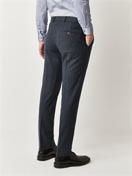 Carnaby Classic Blue Striped Slim Fit Trousers