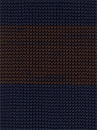 BROWN STRIPE KNITTED TIE