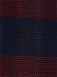 BURGUNDY STRIPE KNITTED TIE
