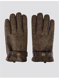 Gibson Brown Harris Tweed and Leather Gloves