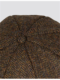 Gibson Brown Herringbone Harris Tweed Hat