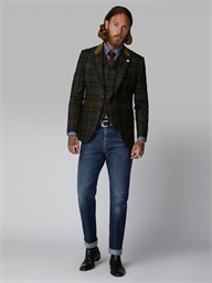 Napier Green & Tan Tartan Jacket