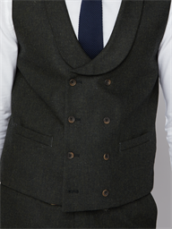 Gibson Bristol Dark Green Double Breasted Waistcoat