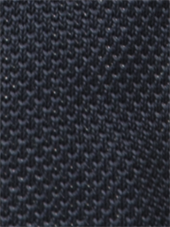 Navy Plain Knitted Tie