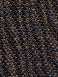 Fawn and Navy Knit Tie
