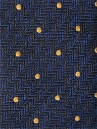 Blue Herringbone with Gold Spot