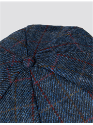 Blue Check Harris Tweed Hat