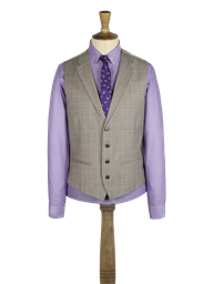 Stone Check Waistcoat- currently unavailable