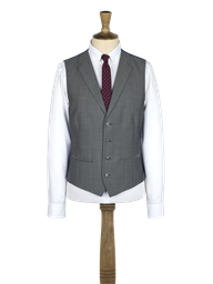 Silver Grey notch lapel vest with back strap and buckle- currently unavailable