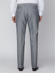 Silver Grey Tailored Suit Trouser
