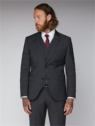 Essentials Grey Check Slim Fit Radisson Trousers